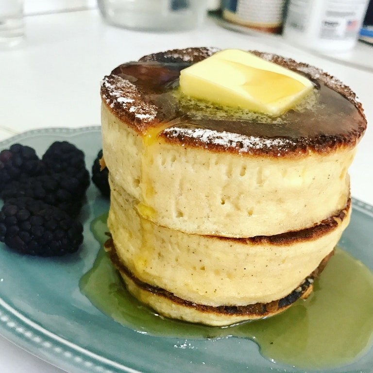 So proud of these fluffy pancakes!