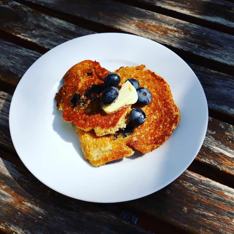 Keto blueberry pancakes