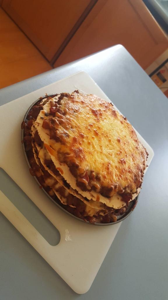Spicy keto tortilla beef lasagne