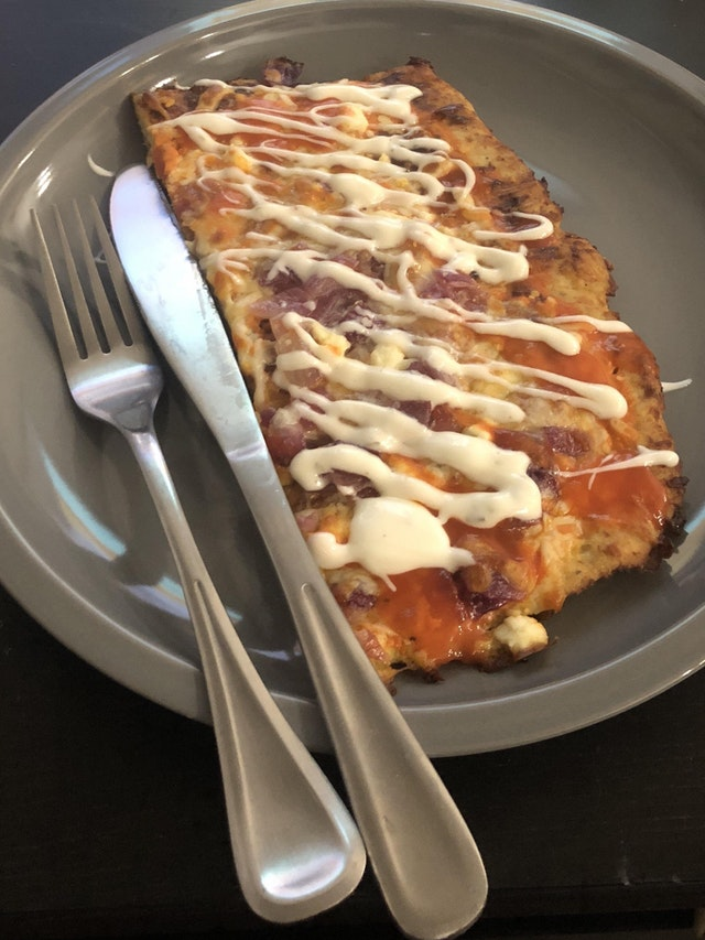 Chicken Crust Buffalo Chicken Pizza