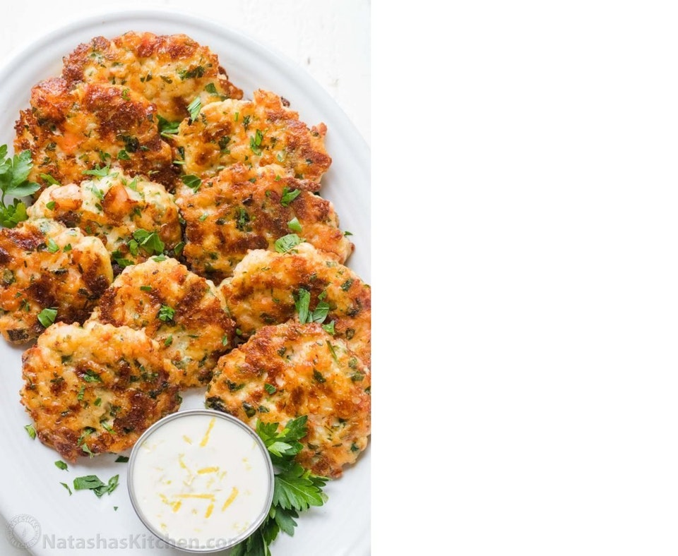 Shrimp Cakes with Lemon Mayo
