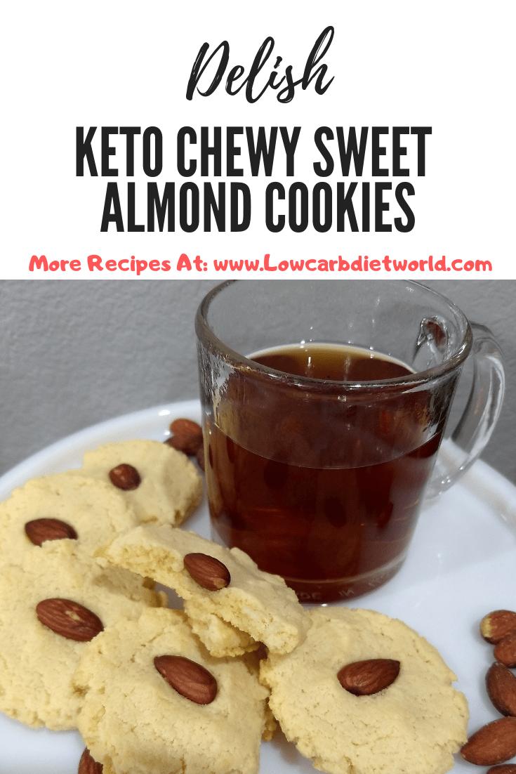 Keto Chewy Sweet Almond Cookies