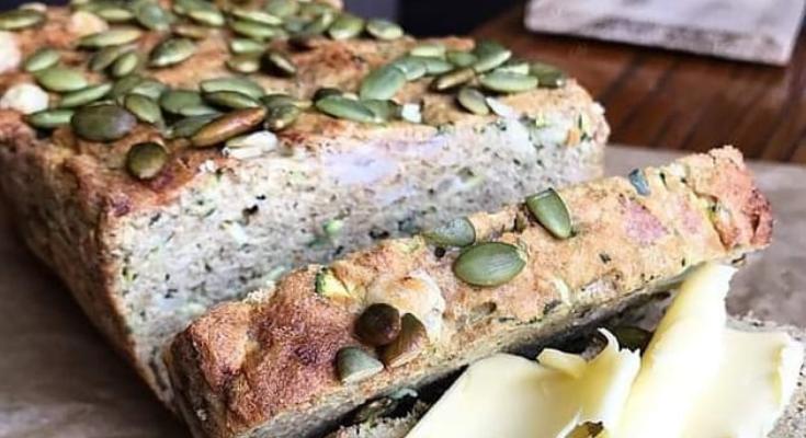 Keto Savoury Zuchini bread