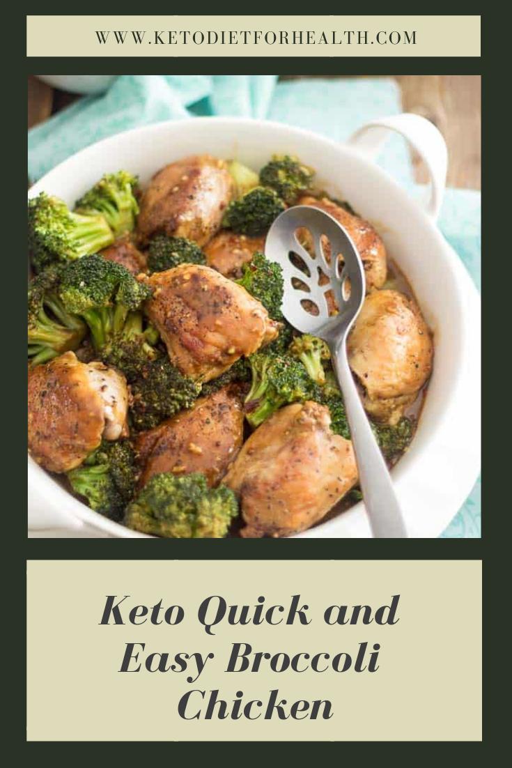 Keto Quick and Easy Broccoli Chicken