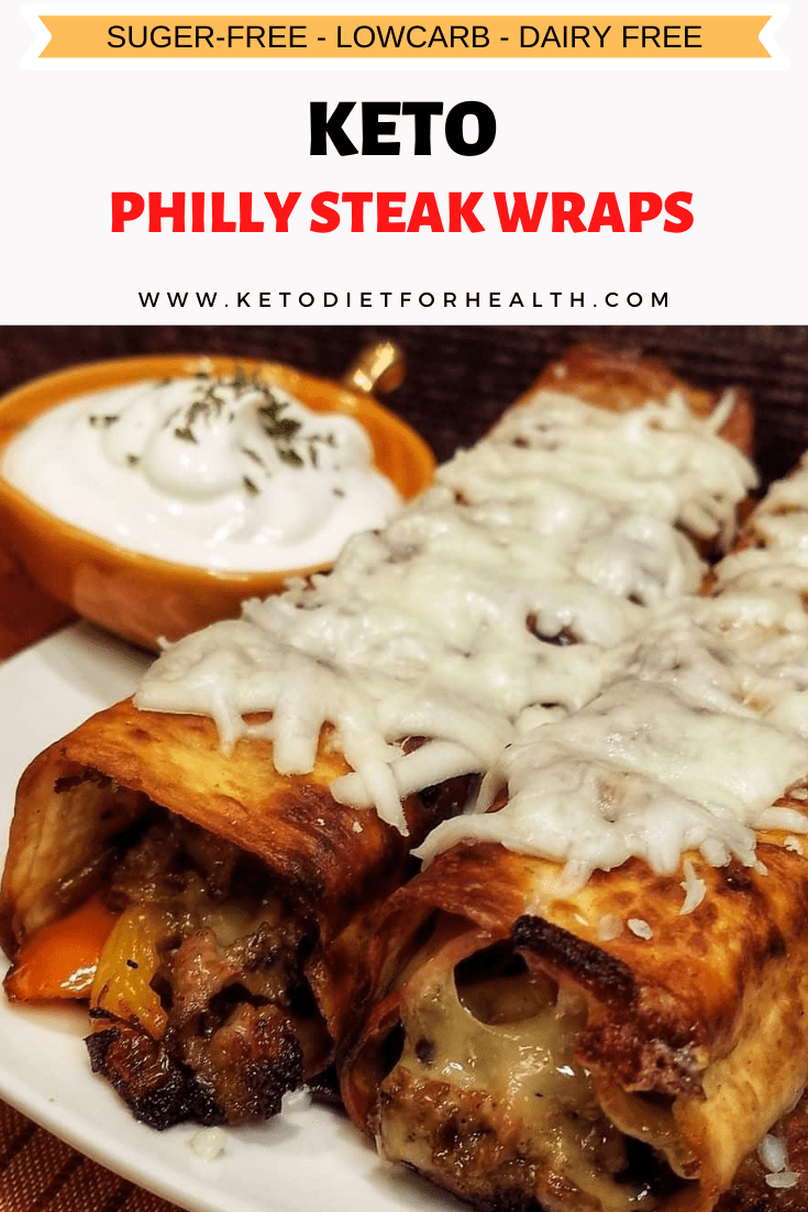 Keto Philly Steak Wraps⁠