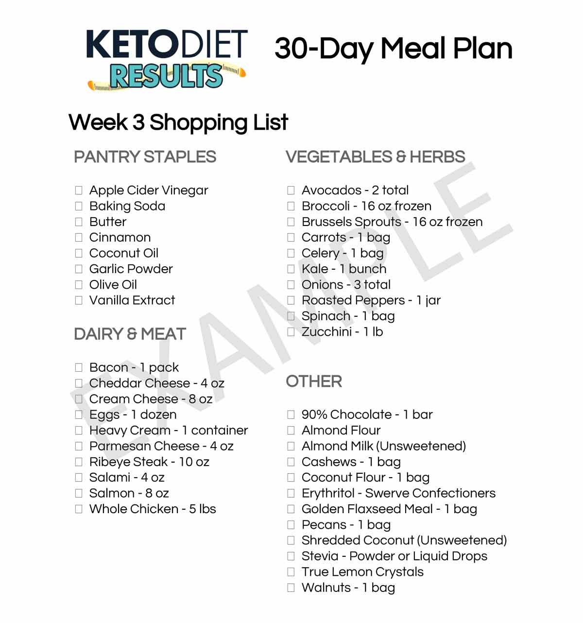 Lose Weight With This 30 Day Keto Meal Plan