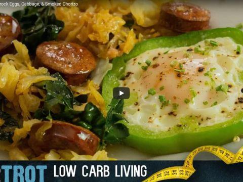 Dot2Trots St. Patrick's Shamrock Eggs, Cabbage, & Smoked Chorizo