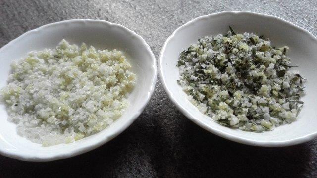 Knoflookzout met kruiden