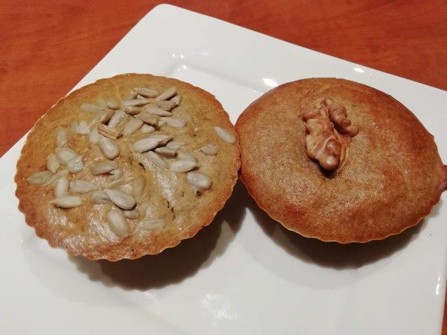 Amandel-teff muffins met banaan of yacon