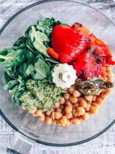 Roasted Red Bell Pepper Hummus