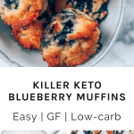 Blueberry muffins in a bowl and muffin tin