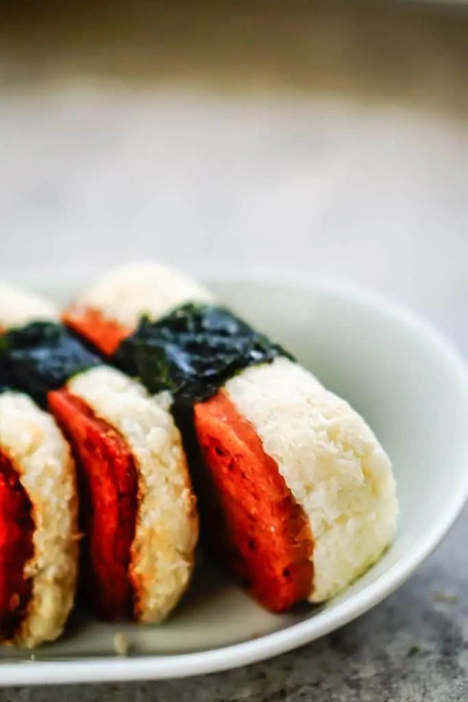 Spam Musubi with Cauliflower Sticky Rice [Recipe] #keto #ketodiet #sushi