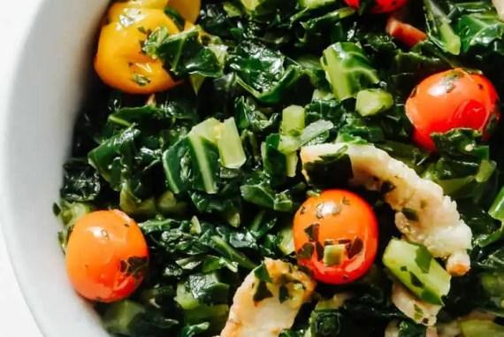 Keto Collard Greens Recipe   Burst Cherry Tomatoes   Comfort Food   Low Carb Recipes   Atkins