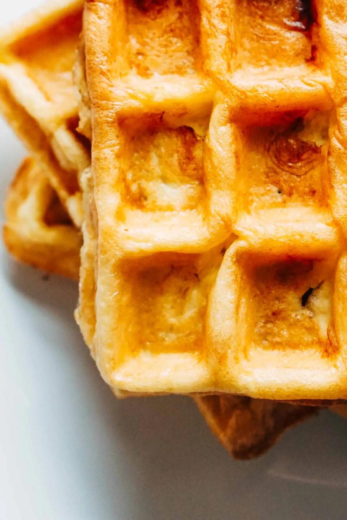 Keto Waffles Stuffed With Cream Cheese Recipe Ketogasm