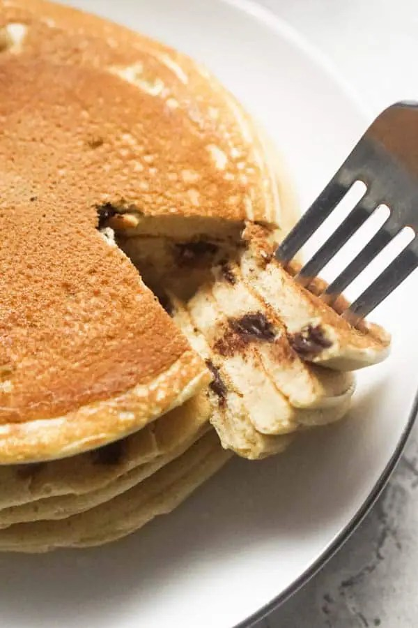 Low Carb Chocolate Chip Pancakes | Ketogenic Pancakes with Ricotta Cheese