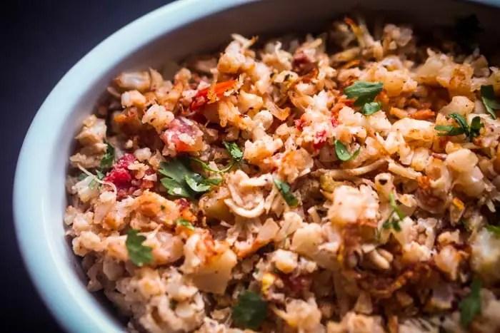 Spanish Cauliflower Rice Recipe | Low Carb, Keto Friendly