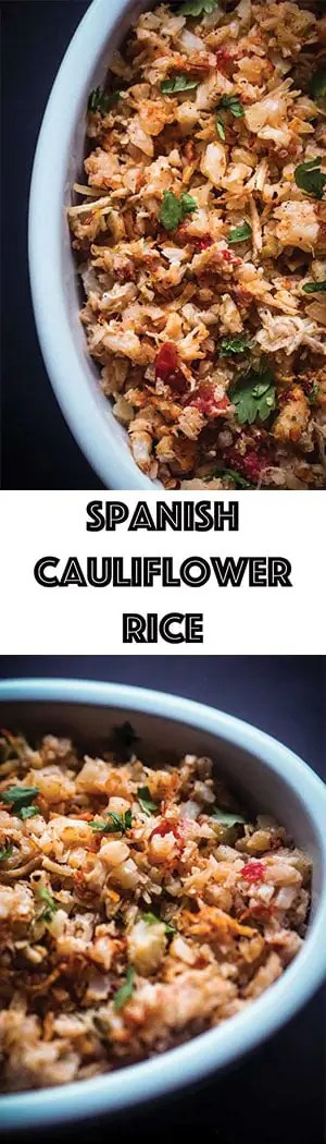 Low Carb Spanish Cauliflower Rice Recipe - Keto, Dairy-free, Gluten-free