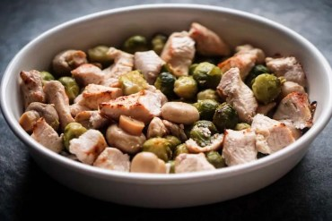 Roasted Turkey Breast Recipe with Mushrooms & Brussels Sprouts - Low Carb, Keto Friendly, Comfort Food