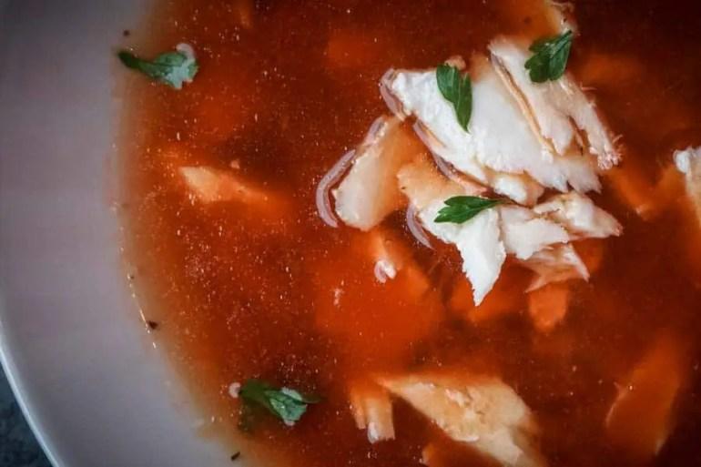 Spicy Halibut Tomato Soup Recipe - Low Carb, Keto, Gluten Free