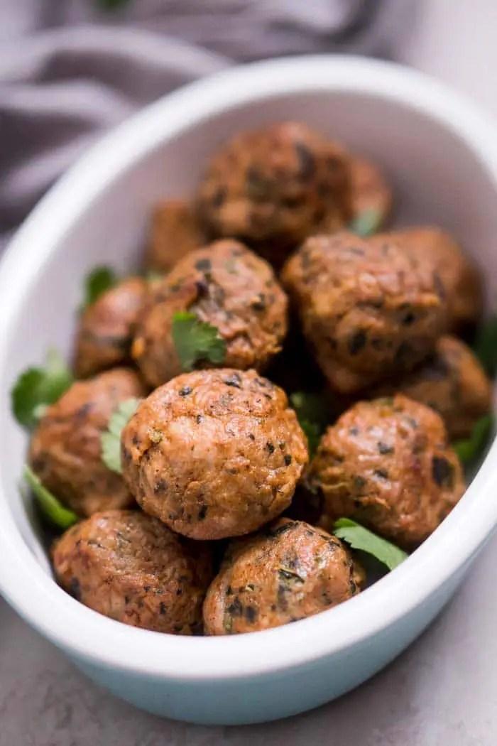 Spicy Baked Chicken Meatballs Recipe Ketogasm