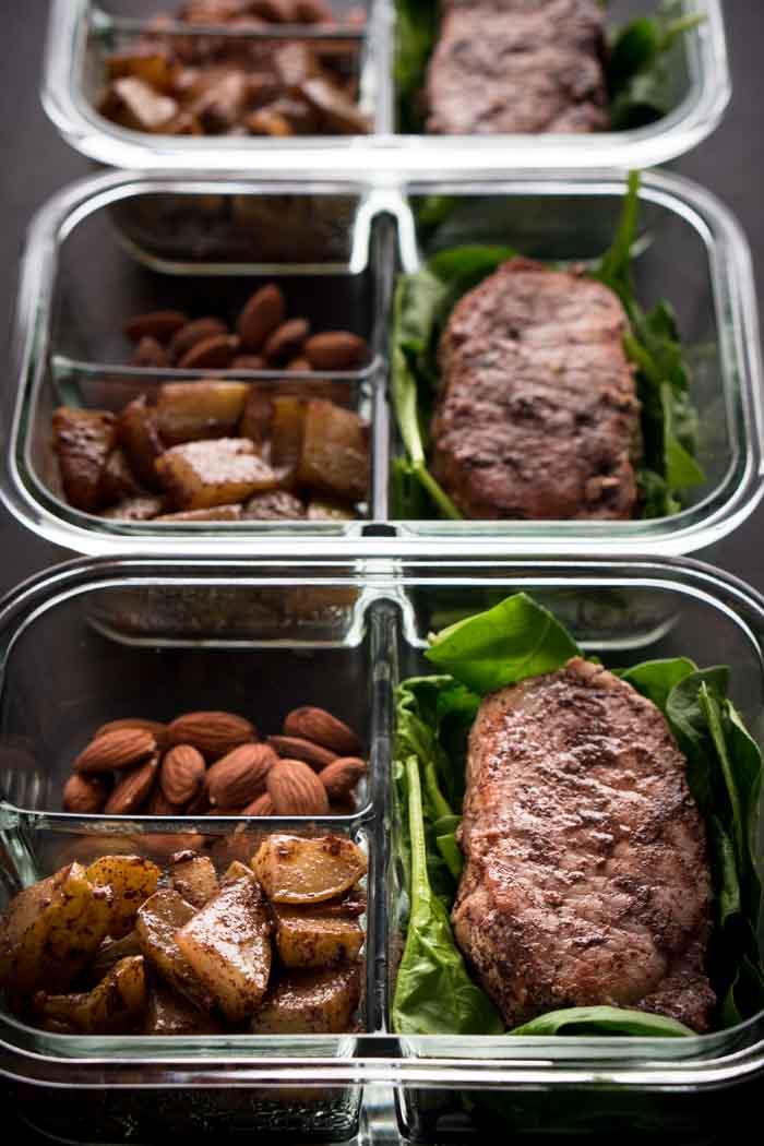 Chayote Mock Apples & Cinnamon Pork Chops Recipe - Keto Meal Prep Recipe