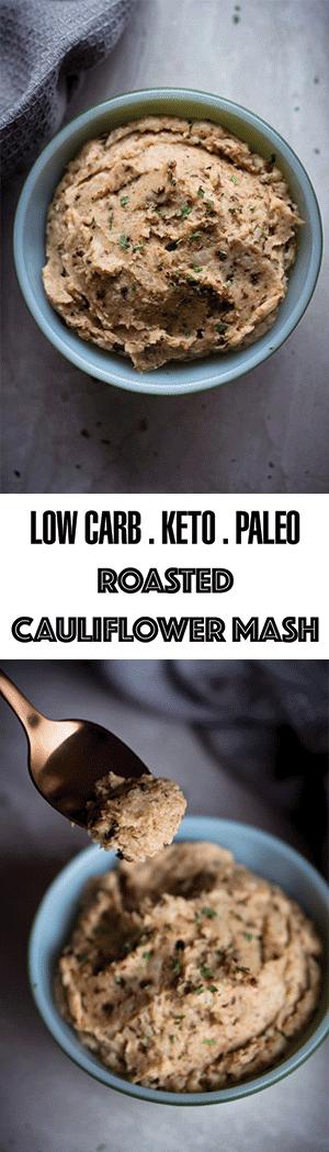Keto Roasted Cauliflower Mash without Dairy