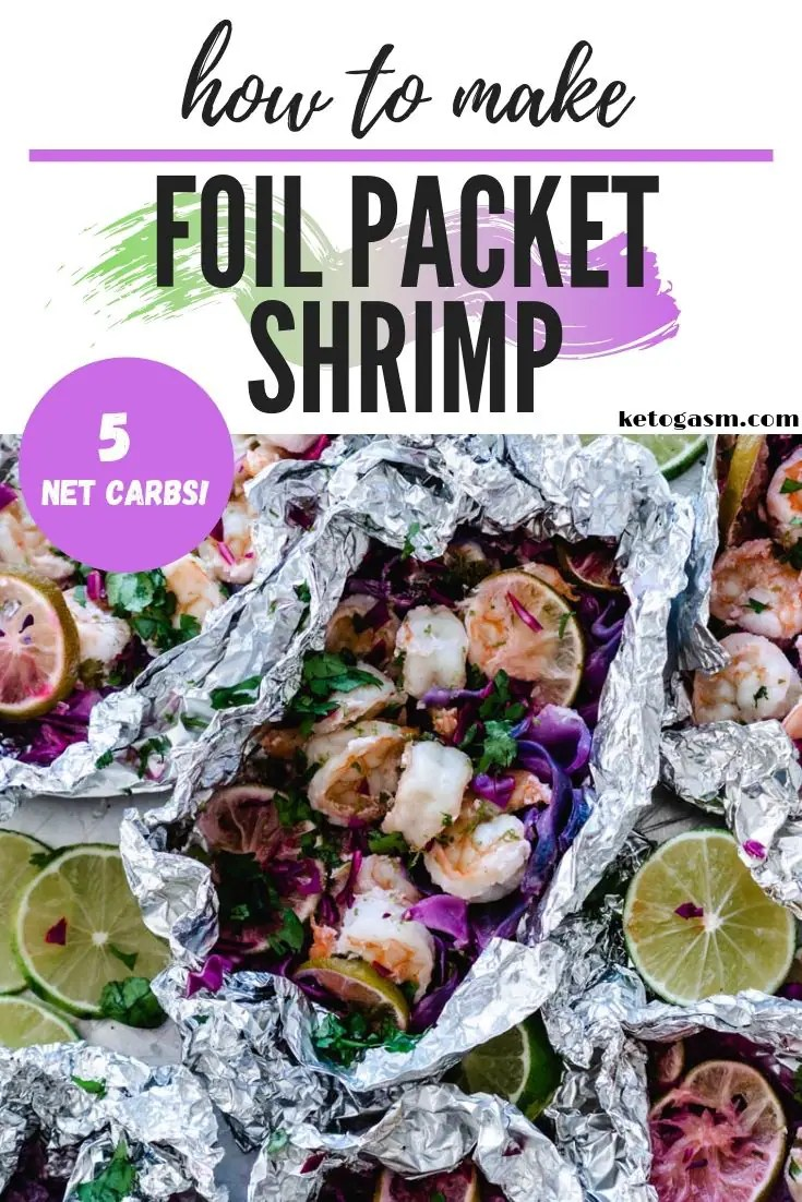 How to Make Foil Packet Shrimp on Grill - Low Carb Keto Shrimp Recipe (~5g net carbs!)