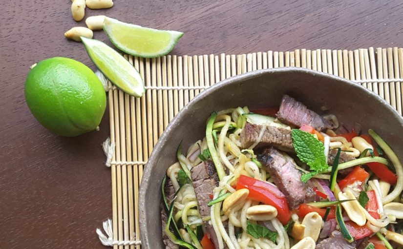 Asian Beef Zoodle Salad