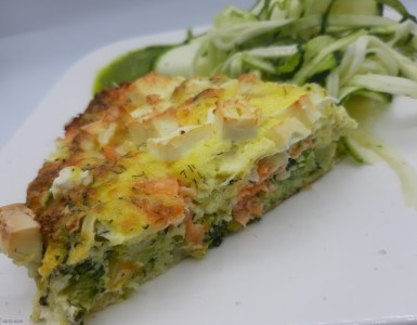 keto quiche zalm broccoli