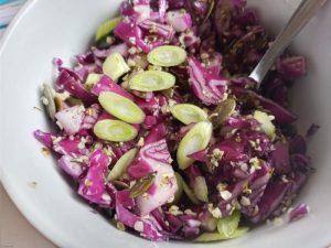salade paarse spitskool