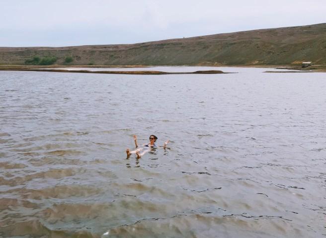 Hier zie je me in zoutwater baden in Sal