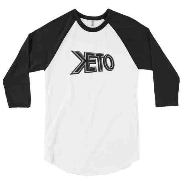 Keto Title Logo 3/4 sleeve raglan shirt 1