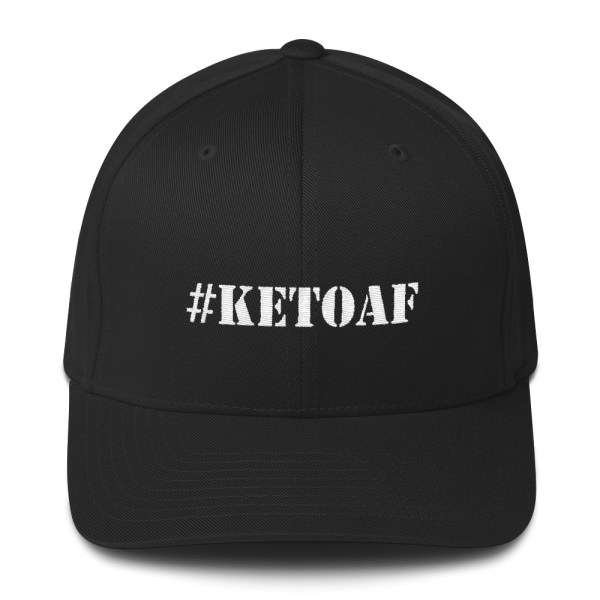 Stencil #KETOAF (White) - Embroidered Structured Twill Cap 1