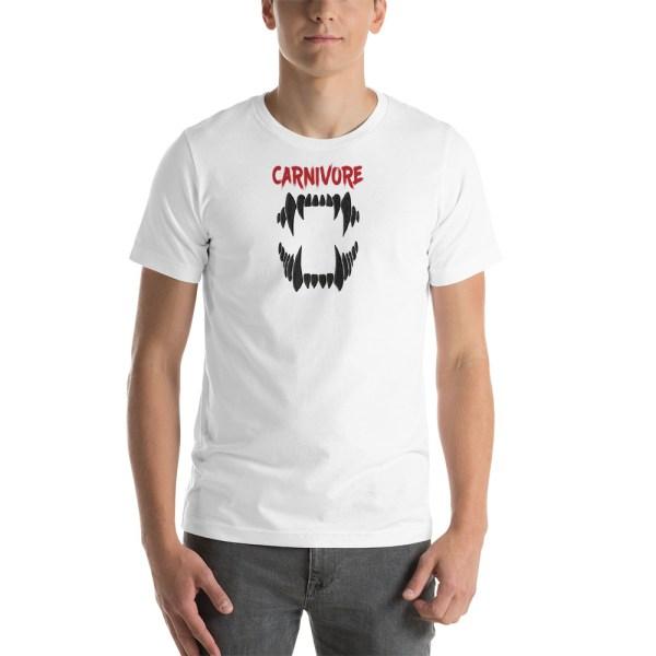 Carnivore (black teeth) - Unisex Short-Sleeve T-Shirt 1
