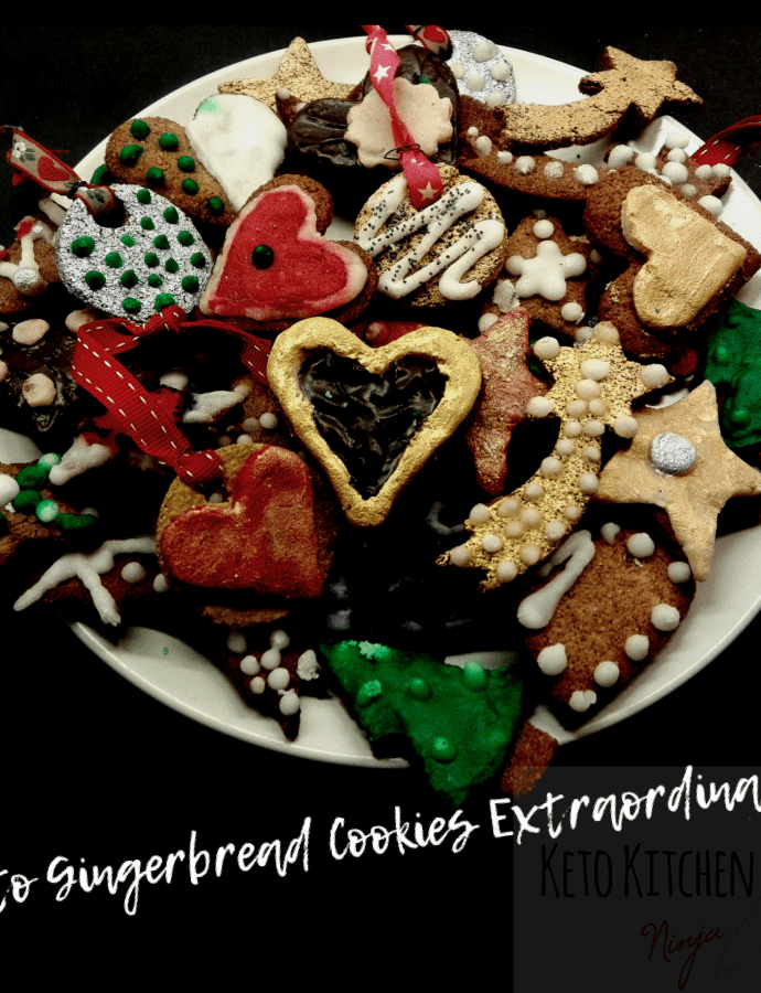 Keto Μπισκότα Gingerbread Extraordinaire