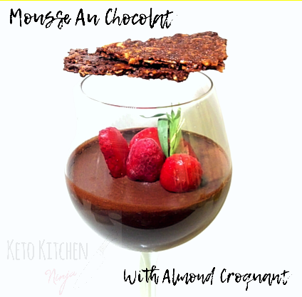 Mousse au chocolat με κροκάν αμυγδάλου!