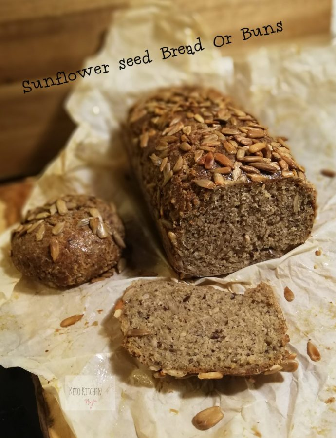 Sunflower seed bread or buns