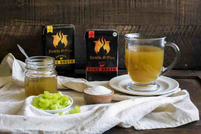 Kettle and Fire chicken and beef bone broth