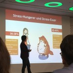LCHF Kongress, Dr. Sabine Paul, Stress-Hungerer vs Stress-Esser