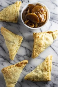 An overhead shot of instant pot apple turnovers