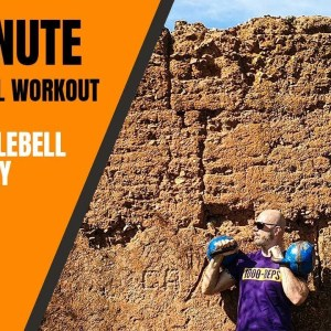 8 minute kettlebell workout full length - workout out with me🔥