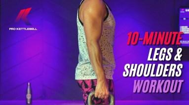 10-Minute Kettlebell Legs Workout