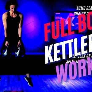 35 Minute Full Body Follow Along Kettlebell Class