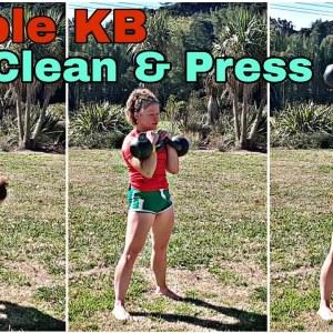 Double Kettlebell Clean & Press Technique