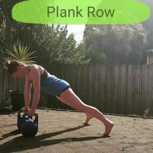 Double Kettlebell Plank Row | Back & Core in ONE go!