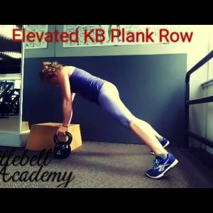 Elevated Plank Row with Kettlebell
