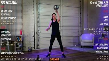 Go Ballistic!  Full Kettlebell Workout