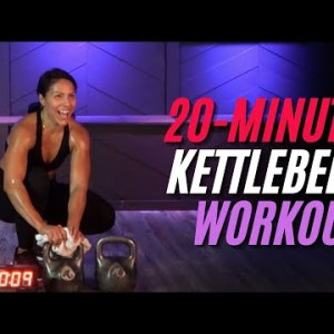20 Minute KETTLEBELL HIIT Workout Class for Strength & Intense Cardio in One