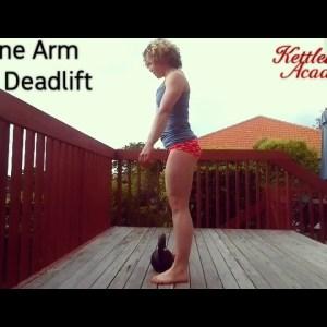 Kettlebell One Arm Deadlift ⭐ Technique