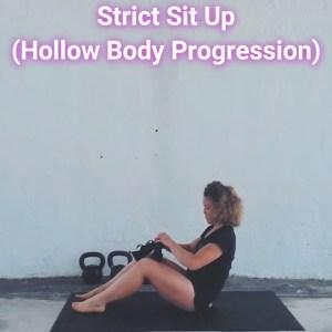 Strict Sit Up (Hollow Body Progression)